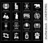 set of 16 icons such as limited ...