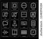 set of 16 icons such as clock ...