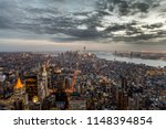 new york city sunset skyline...   Shutterstock . vector #1148394854