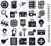 set of 25 icons such as plus ...