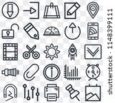 set of 25 icons such as gallery ...