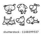 graphic dog  vector | Shutterstock .eps vector #1148399537