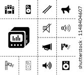 loud icon. collection of 13... | Shutterstock .eps vector #1148404607
