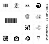 scan icon. collection of 13... | Shutterstock .eps vector #1148404811