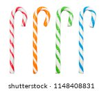 Christmas Candy Canes Isolated...