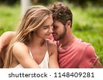 passionate couple in love in... | Shutterstock . vector #1148409281