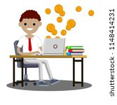 the guy is engaged in business...   Shutterstock . vector #1148414231