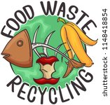 illustration of food waste... | Shutterstock .eps vector #1148418854