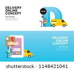 delivery online concept   the... | Shutterstock .eps vector #1148421041