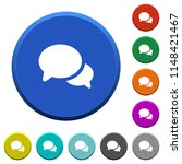 discussion round color beveled... | Shutterstock .eps vector #1148421467