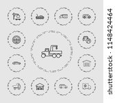 automobile icon. collection of... | Shutterstock .eps vector #1148424464
