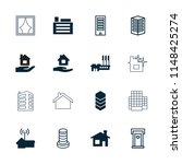 residential icon. collection of ... | Shutterstock .eps vector #1148425274