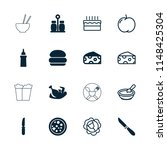 meal icon. collection of 16... | Shutterstock .eps vector #1148425304