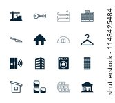 house icon. collection of 16... | Shutterstock .eps vector #1148425484