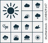 weather icons set with heavy...   Shutterstock .eps vector #1148429147