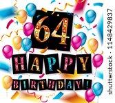 64rd anniversary celebration... | Shutterstock . vector #1148429837