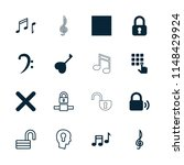 key icon. collection of 16 key... | Shutterstock .eps vector #1148429924