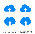 vector upload in cloud icon ...