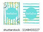 bridal shower set with dots and ... | Shutterstock .eps vector #1148433227