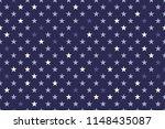 seamless stars pattern vector | Shutterstock .eps vector #1148435087