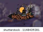 haunted house halloween...   Shutterstock .eps vector #1148439281