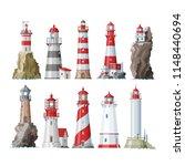 lighthouse vector beacon... | Shutterstock .eps vector #1148440694