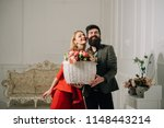 trust concept. happy couple in... | Shutterstock . vector #1148443214