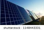 solar panels on the green... | Shutterstock . vector #1148443331