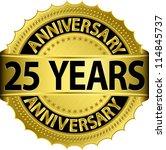 25 years anniversary golden... | Shutterstock .eps vector #114845737