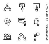 set of black vector icons ... | Shutterstock .eps vector #1148457674