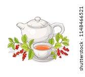 schisandra tea illustration | Shutterstock .eps vector #1148466521