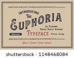 original handmade alphabet.... | Shutterstock .eps vector #1148468084