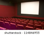 cinema and red seats rows empty ... | Shutterstock . vector #114846955