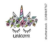 beautiful cute unicorn concept  ... | Shutterstock .eps vector #1148469767