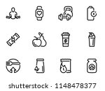 set of black vector icons ... | Shutterstock .eps vector #1148478377