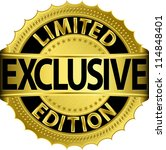 limited edition exclusive... | Shutterstock .eps vector #114848401