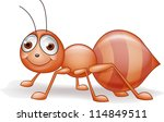 Vector illustration of ant cartoon