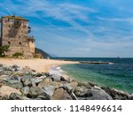 view of aegean sea and old... | Shutterstock . vector #1148496614
