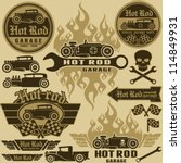 Hot Rod Style Labels And Signs...