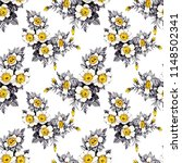 seamless floral pattern on... | Shutterstock . vector #1148502341