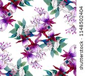 seamless pattern on white... | Shutterstock . vector #1148502404