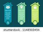 three color house infographic | Shutterstock .eps vector #1148503454