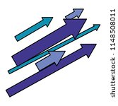 set of arrows with direction up | Shutterstock .eps vector #1148508011