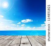 beauty seascape under blue... | Shutterstock . vector #114851821