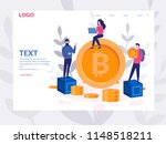 bitcoin blockchain concept for... | Shutterstock .eps vector #1148518211