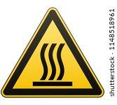 caution   danger. hot surface.... | Shutterstock .eps vector #1148518961