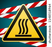 caution   danger. hot surface.... | Shutterstock .eps vector #1148518964