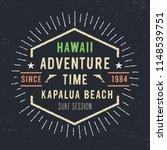 hawaii typography. vintage... | Shutterstock .eps vector #1148539751