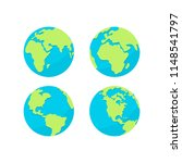 earth icons. planet flat style... | Shutterstock .eps vector #1148541797