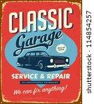 vintage metal sign   classic... | Shutterstock . vector #114854257